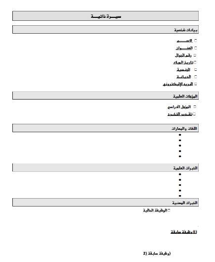 السيرة الذاتية كيف تكتب سيرتك الذاتية بطريقة إحترافية المطور السوداني